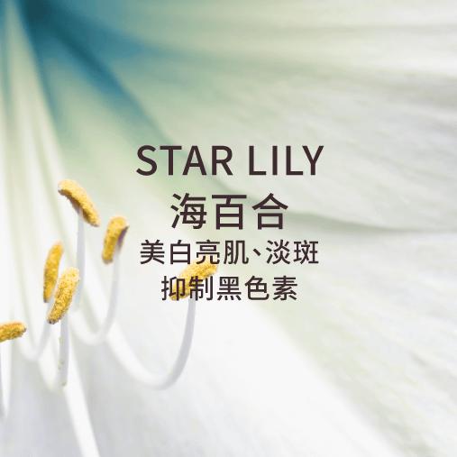 star lily 海百合 亮白美肌 淡斑 抑制黑色素