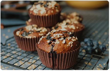 High Protein Blueberry Oat Muffins recipe