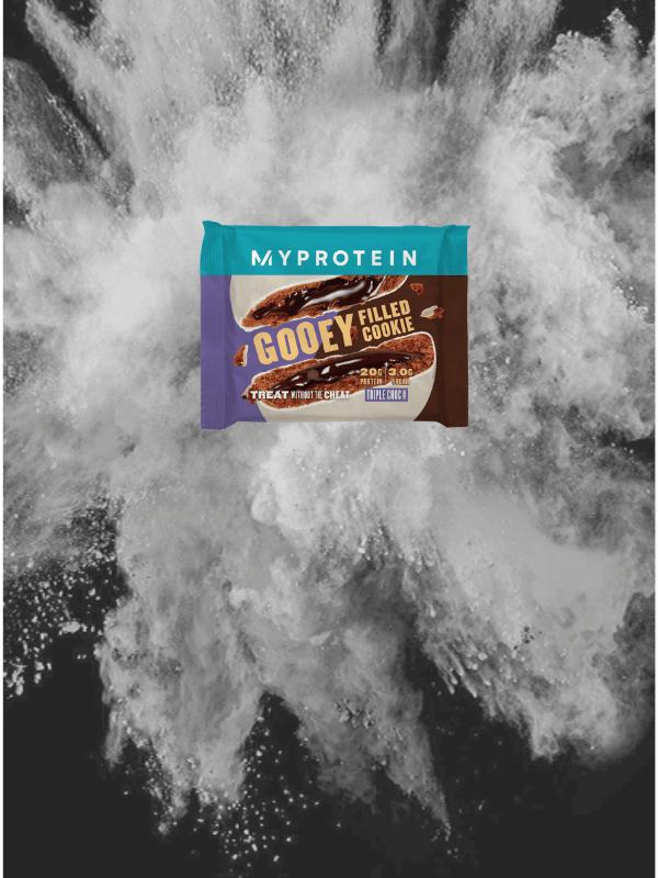 Gefüllter Protein Cookie Triple Schokolade
