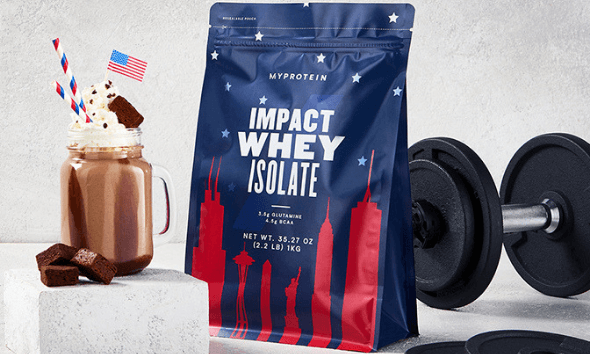 Shot of limited edition Impact Whey Isolate