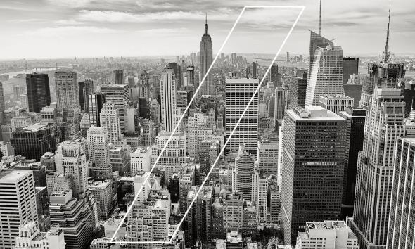 NYC Myprotein Campaign Greyscale Skyline