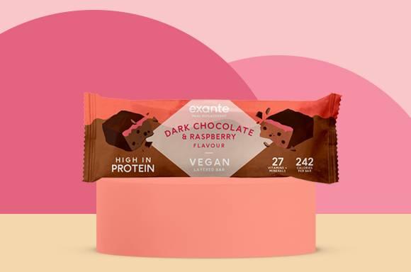 Fruity Dark Chocolate & Raspberry Vegan Layered Bar