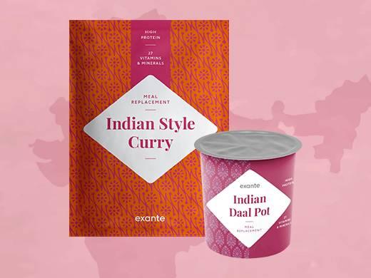 Daal Pot de la India y Curry al estilo indio con Arroz.