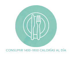 Consumir 1400-1800 calorías al día