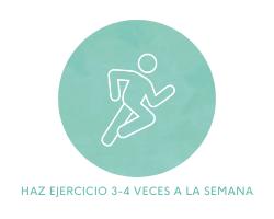 Haz ejercicio 3-4 veces a la semana