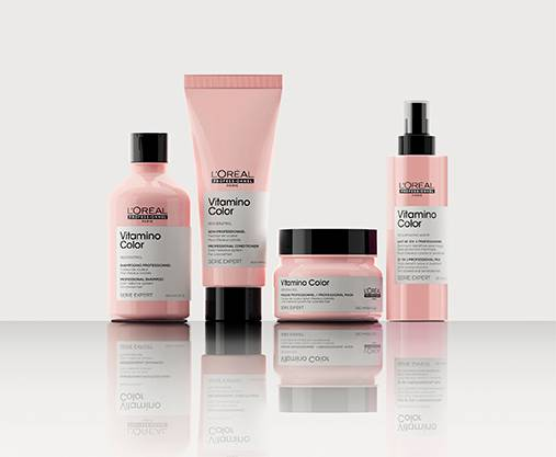 Protect your hair colour from fading for up to 8 weeks* with this professional colour care range by Serie Expert.  *instrumental test shampoo + conditioner