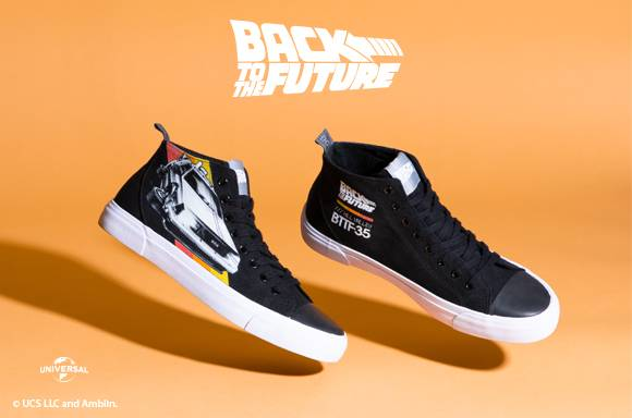 BACK TO THE FUTURE black high-top canvas