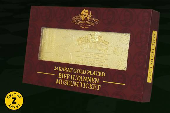 24K GOLD-PLATED BACK TO THE FUTURE TICKET