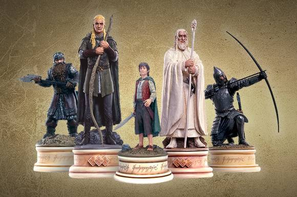 Eaglemoss Lord of the Rings Chess Collection - 10 Figures