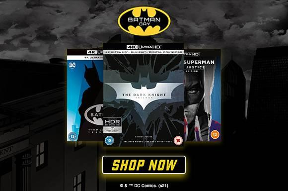20% Off Batman 4K UHD, BLU-RAY & DVD
