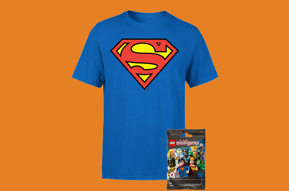 DC T-shirt & Lego Figure only £7.99