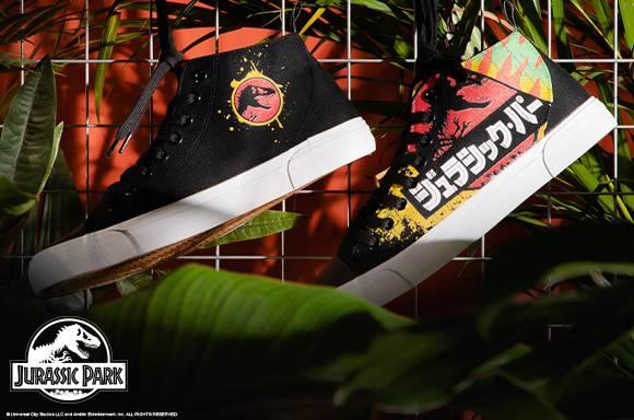 Akedo x Jurassic Park Black Adult Signature High Top