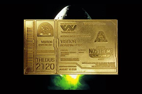 Alien 24K Gold Plated Boarding Ticket!