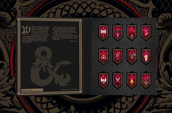Pinfinity Dungeons and Dragons 12 Class Augmented Reality Pin Set