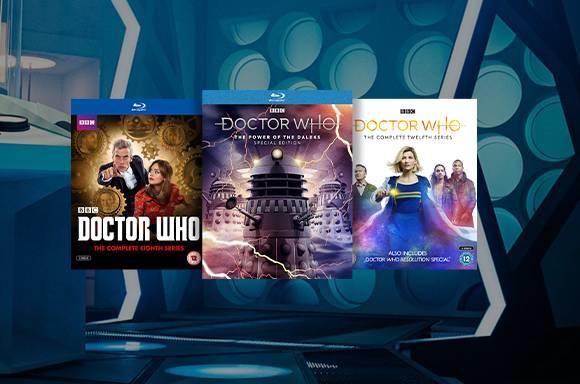 ¡25% en una selección de Blu-Ray y DVD de Dr. Who!