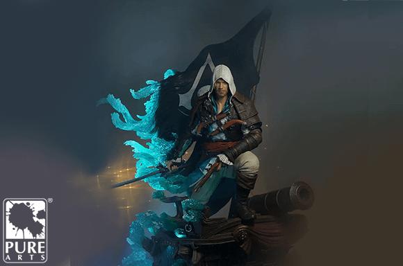 Estatua a Escala 1:4  PureArts Assassin's Creed Black Flag Edward Kenway Animus