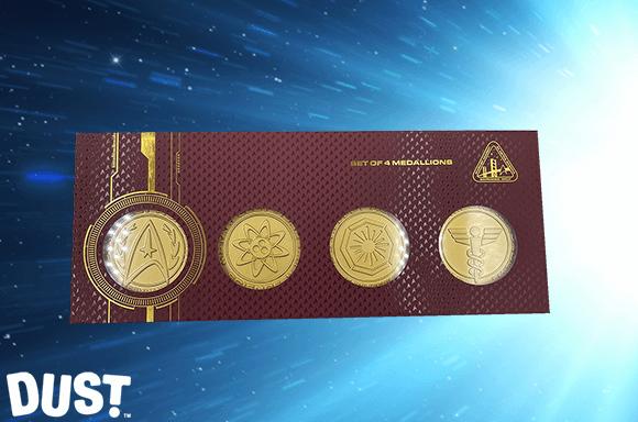 DUST! Star Trek Set De Medallones de Oro 24k Divisionales