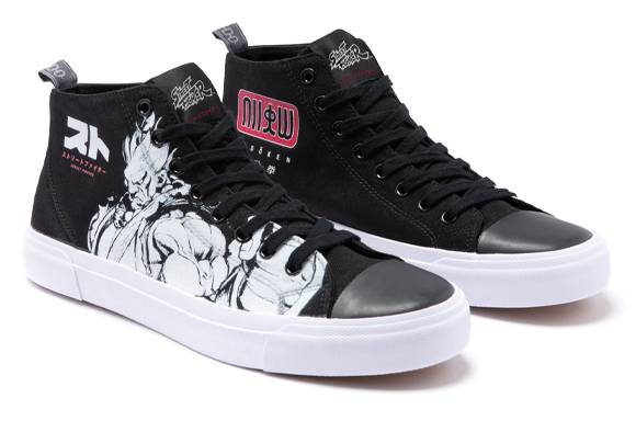 Chaussures Noires Coupe Haute Akedo x Street Fighter