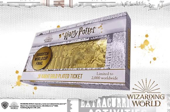 Billet Doré Coupe du monde de Quidditch Harry Potter