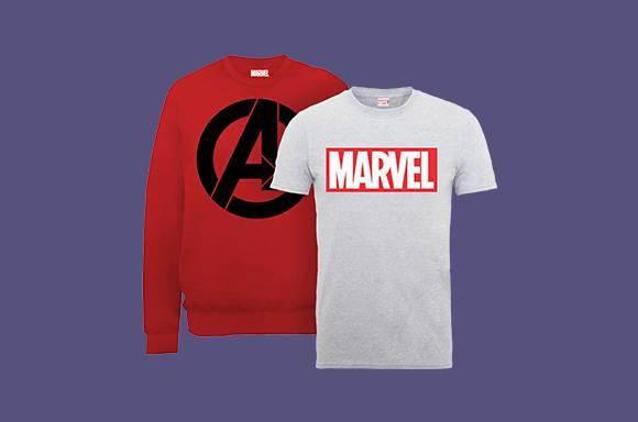 Lot Marvel & DC : T-Shirt + Sweatshirt