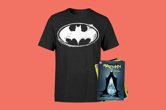 T-Shirt  Batman & Lot de 10 Comics
