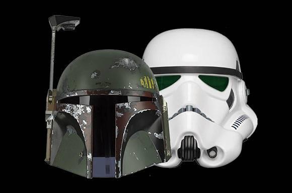 Casques Électroniques Stormtrooper & Bobba Fett