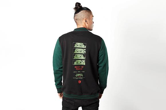 Varsity Jacket Tortues Ninja Noir & Vert