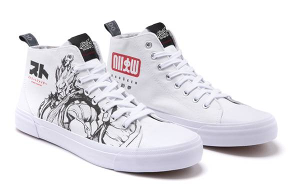 Chaussures Blanches Coupe Haute Akedo x Street Fighter