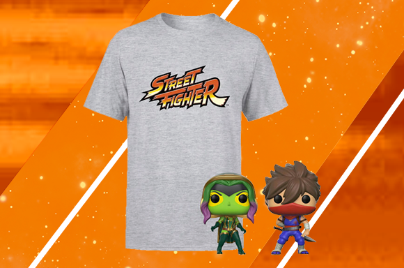 Lot Streetfighter T-Shirt & Funko Pop