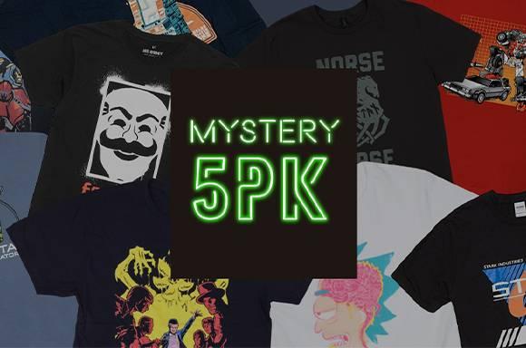 Lot de 5 T-shirts Mystère