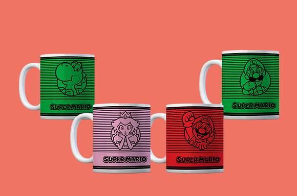 4 Mugs Nintendo pour 17€