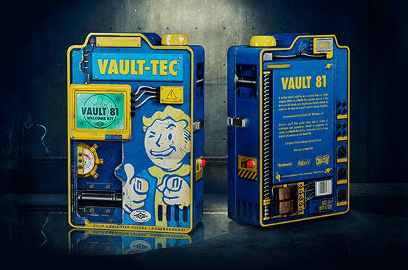Kit de bienvenue Fallout de l'habitant de la chambre forte avec projecteur de diapositives Vault-Tec - Doctor Collector.