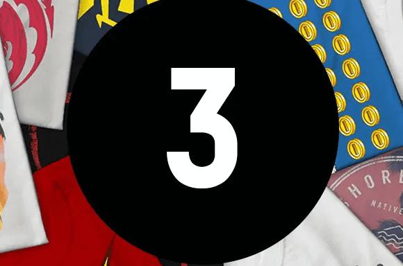 3 T-Shirts Mystères + Cadeau Offert !