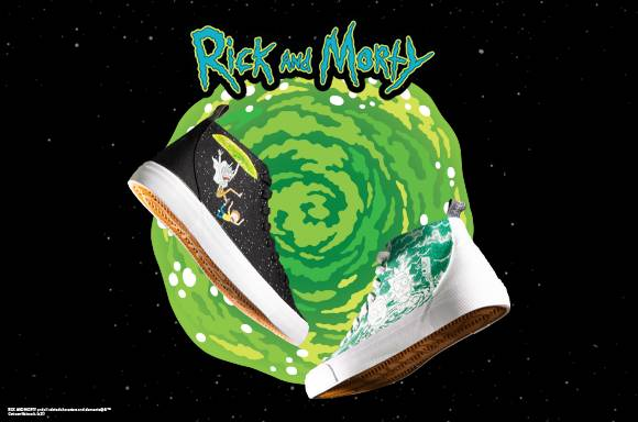 Akedo x Rick & Morty<BR>Chaussures Coupe Haute Signature
