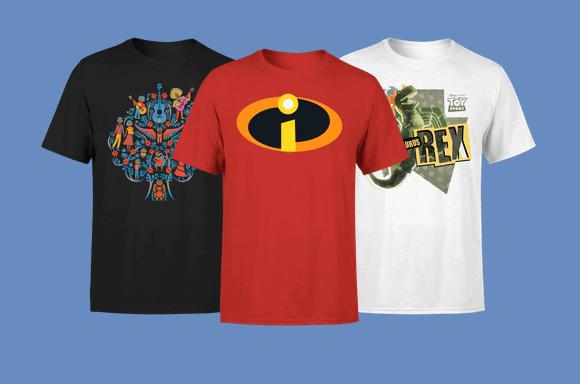 Économisez sur les t-shirts Disney & Pixar !