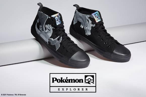 Pokémon Dracaufeu - Chaussures Noires Adulte Coupe Haute