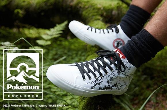Pokémon Into The Wild - Chaussures Blanches Coupe Haute Adulte