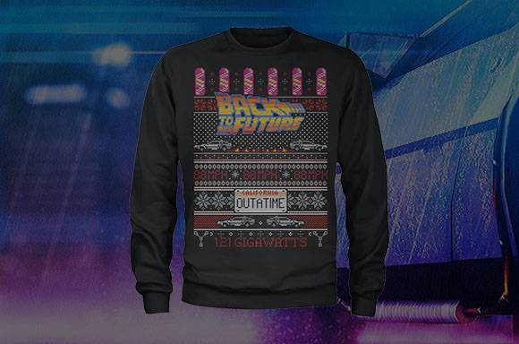 BACK TO THE FUTURE XMAS JUMPER