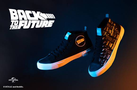 Akedo x Back To The Future Schematic Black Adult Signature High Top