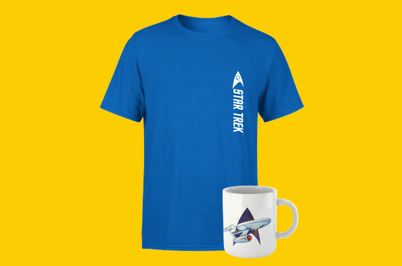 Star Trek Tee & Mug only £8.99