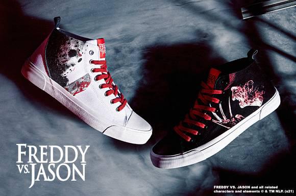 AKEDO X Freddy Vs. Jason Team Freddy Black Adult Signature High Top