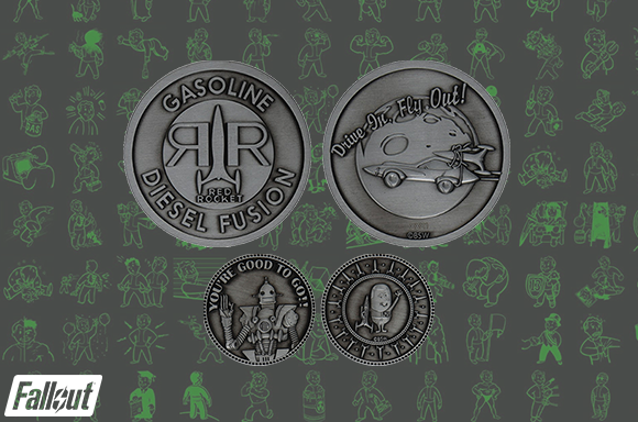 DUST! Fallout Limited Edition Red Rocket Collector's Medallion and Coin Set