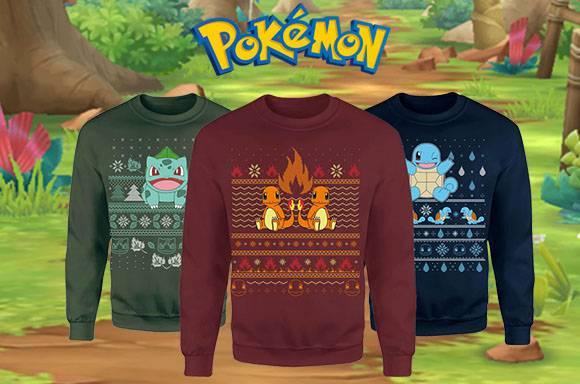 Pokémon Christmas Jumpers
