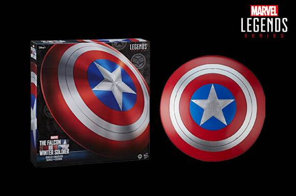 Hasbro Marvel Legends Falcon and Winter Soldier Captain America Role Play Schild