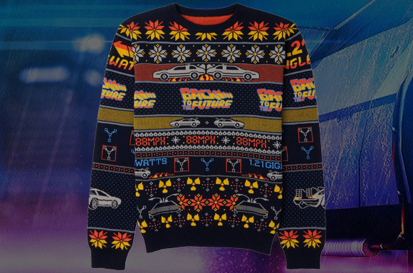 BACK TO THE FUTURE XMAS SWEATER