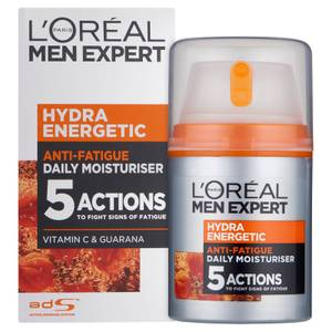 Lotion hydratante anti-fatigue Hydra Energetic Daily Men Expert de L'Oréal (50ml)
