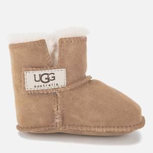 UGG Babies' Erin Logo Sheepskin Boots - Chestnut
