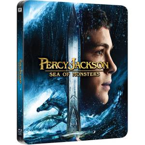 Percy Jackson: Sea of Monsters - Beperkte Editie Steelbook (Bevat 3D Blu-Ray, 2D Blu-Ray en UltraViolet Copy)