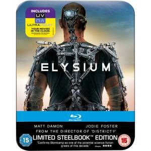 Elysium - Limited Edition Steelbook: Mastered in 4K Edition (Includes UltraViolet Copy) (UK EDITION)