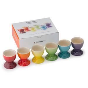 Le Creuset Stoneware Rainbow Egg Cups (Set of 6)